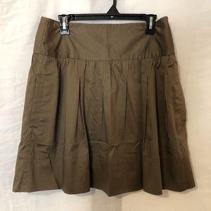 BCBG Maxazria Womens 8 Skirt Brown A Line